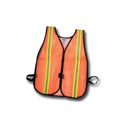 Mutual Industries Non-ANSI High-Visibility Reflective Heavy Weight Safety Vest - Lime / Silver / Lime