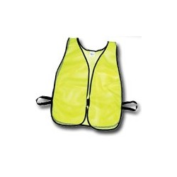 Mutual Industries Non-ANSI High Visibility Soft Mesh Safety Vest - Plain (Lime)