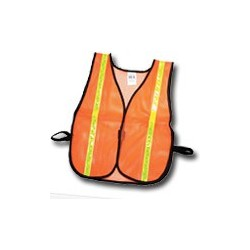 """Mutual Industries Non-ANSI High Visibility Soft Mesh Safety Vest - 1"""" Lime Reflective Stripe"""