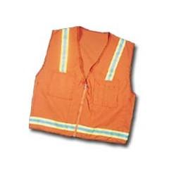 Mutual Industries Surveyor Safety Vest - Lime / Silver / Lime Reflective Stripe