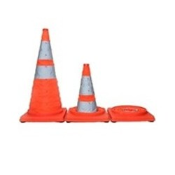 Mutual Industries 17714 Collapsible Traffic Safety Cones with Carrying Case
