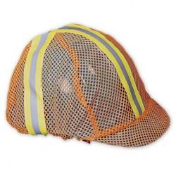 Mutual Industries 13500-100 Orange Mesh Reflective Construction Hard Hat / Helmet Cover