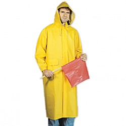 Mutual Industries 14506 2-Piece .35 mm PVC Polyester Raincoat with Detachable Hood