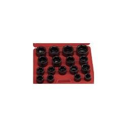 "Genius Tools IS-817M 17PC 1"" Dr. Metric Impact Socket Set"