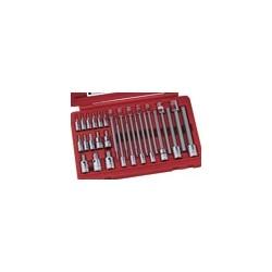 "Genius Tools BS-2328HL28PC 1/4 & 3/8"" Dr. SAE Long Hex Bit Socket Set"