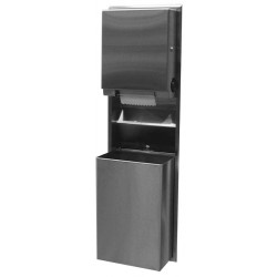 Bobrick B-39617 ClassicsSeries Recessed Convertible Paper Towel Dispenser/ 18Gallon (68.0 L) Waste Receptacle with Touch-Free Pu