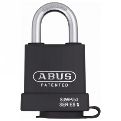 83WP-IC/53 Abus Extreme Solid Steel Covered Weather Proof Padlock with Nano Protect Plating