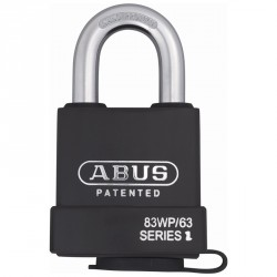 83WP-IC/63 Abus Extreme Interchangeable Core (IC Core) Solid Steel Covered Weatherproof Padlock