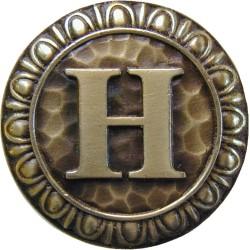 Notting Hill NHK-187 Initial H Knob 1-3/8 diameter