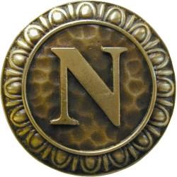 Notting Hill NHK-193 Initial N Knob 1-3/8 diameter
