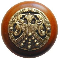 Notting Hill NHW-701 Regal Crest Wood Knob 1-1/2 diameter