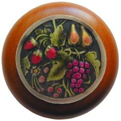Notting Hill NHW-713 Tuscan Bounty Wood Knob 1-1/2 diameter