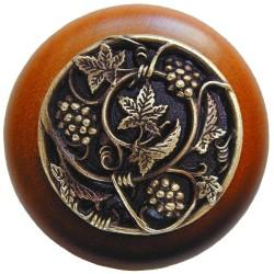 Notting Hill NHW-729 Grapevines Wood Knob 1-1/2 diameter