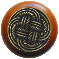 Notting Hill NHW-739 Classic Weave Wood Knob 1-1/2 diameter