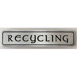 Notting Hill NHP-312 Engraved RECYCLING (Horizontal) Pull 4 x 7/8
