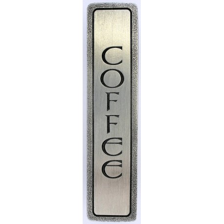 Notting Hill NHP-341 Engraved COFFEE (Vertical) Pull 4 x 7/8