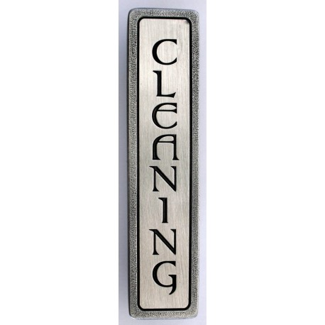 Notting Hill NHP-351 Engraved CLEANING (Vertical) Pull 4 x 7/8