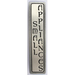 Notting Hill NHP-354 Engraved SMALL APPLIANCES (Vertical - 2 lines) Pull 4 x 7/8