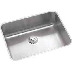 Elkay ELUH2115PDBG Gourmet (Lustertone) Stainless Steel Single Bowl Undermount Sink Kit