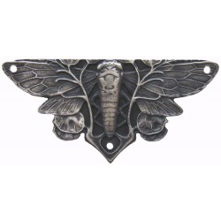 Notting Hill NHH-920 Cicada on Leaves (sold in pairs) Hinge Plate Set 1-1/4 w x 2-5/8 h