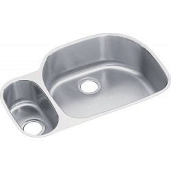 Elkay ELUH322110L Harmony (Lustertone) Stainless Steel Double Bowl Undermount Sink