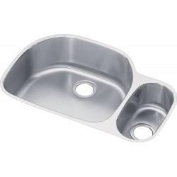 Elkay ELUH322110RDBG Harmony (Lustertone) Stainless Steel Double Bowl Undermount Sink Kit