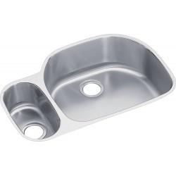 Elkay ELUH3221L Harmony (Lustertone) Stainless Steel Double Bowl Undermount Sink