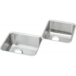 Elkay ELUH3232 Gourmet (Lustertone) Stainless Steel Double Bowl Undermount Sink