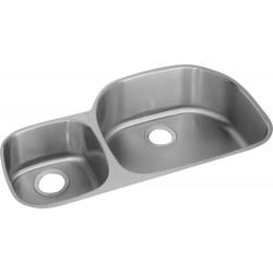 Elkay ELUH3621L Harmony (Lustertone) Stainless Steel Double Bowl Undermount Sink