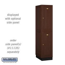 Salsbury Solid Oak Executive Wood Locker - Double Tier - 1 Wide - 6 Feet High
