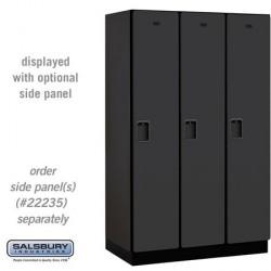 Salsbury Extra Wide Designer Wood Locker - Single Tier - 3 Wide - 6 Feet High