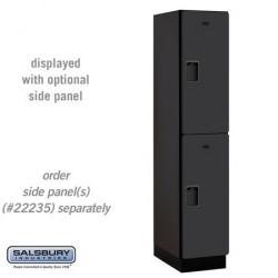 Salsbury Extra Wide Designer Wood Locker - Double Tier - 1 Wide - 6 Feet High