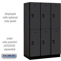 "Salsbury 15"" Extra Wide Designer Wood Locker - Double Tier - 3 Wide - 6 Feet High"