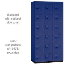 Salsbury Heavy Duty Plastic Locker - Six Tier Box Style - 3 Wide - 6 Feet High - 18 Inches Deep