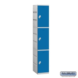 Salsbury Plastic Locker - Triple Tier - 1 Wide - 73 Inches High - 18 Inches Deep