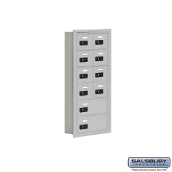 "Salsbury 1916510 Cell Phone Lockers Six Door High, 5"" Deep Compartments with Front Access Panel"