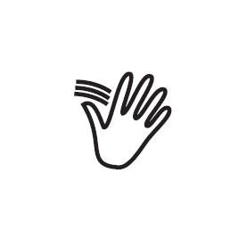 Hand Wave Symbol