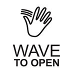 Hand Wave Symbol / WAVE TO OPEN