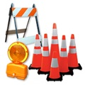 Traffic Safety Cones, Barricades, Beacons